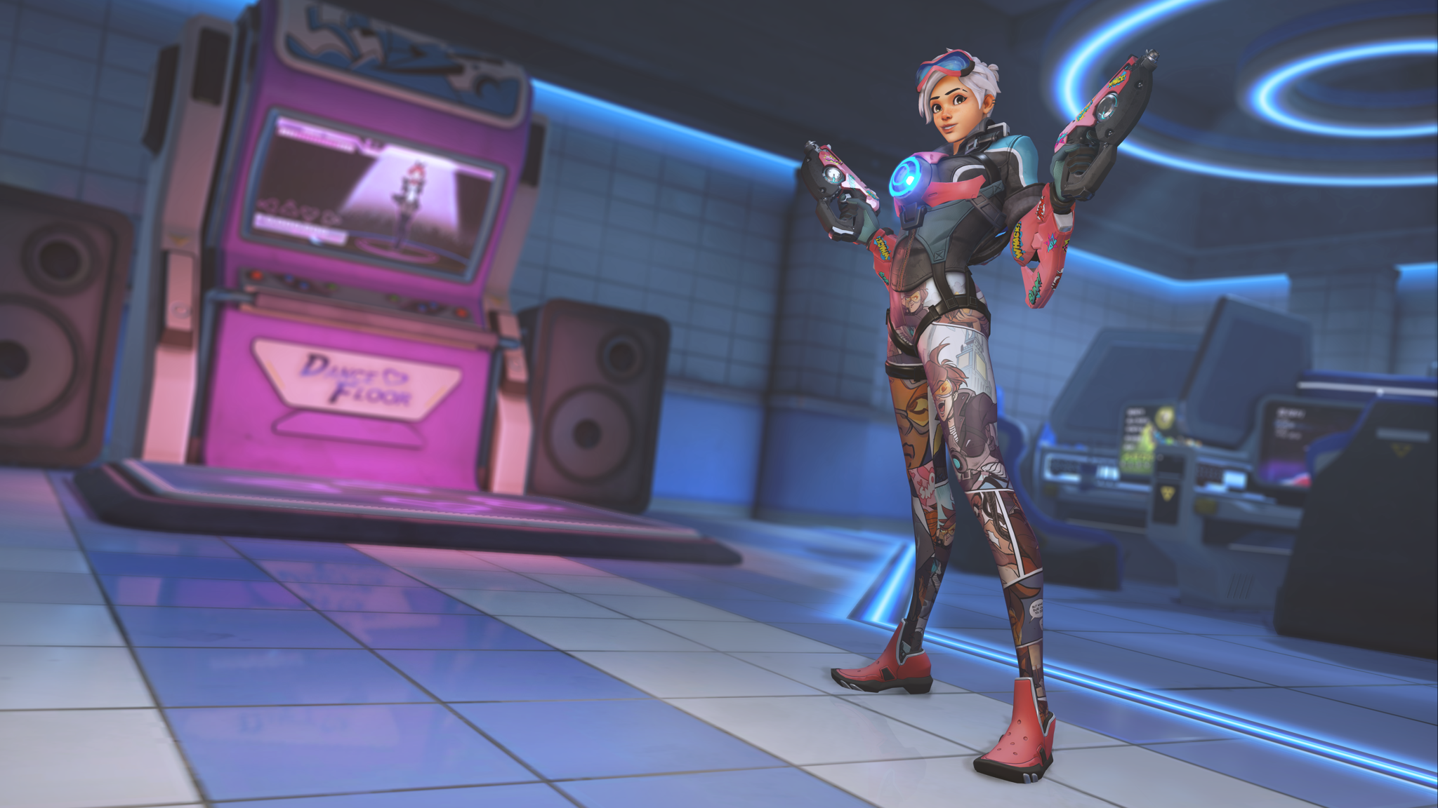 Tracer skin in Overwatch