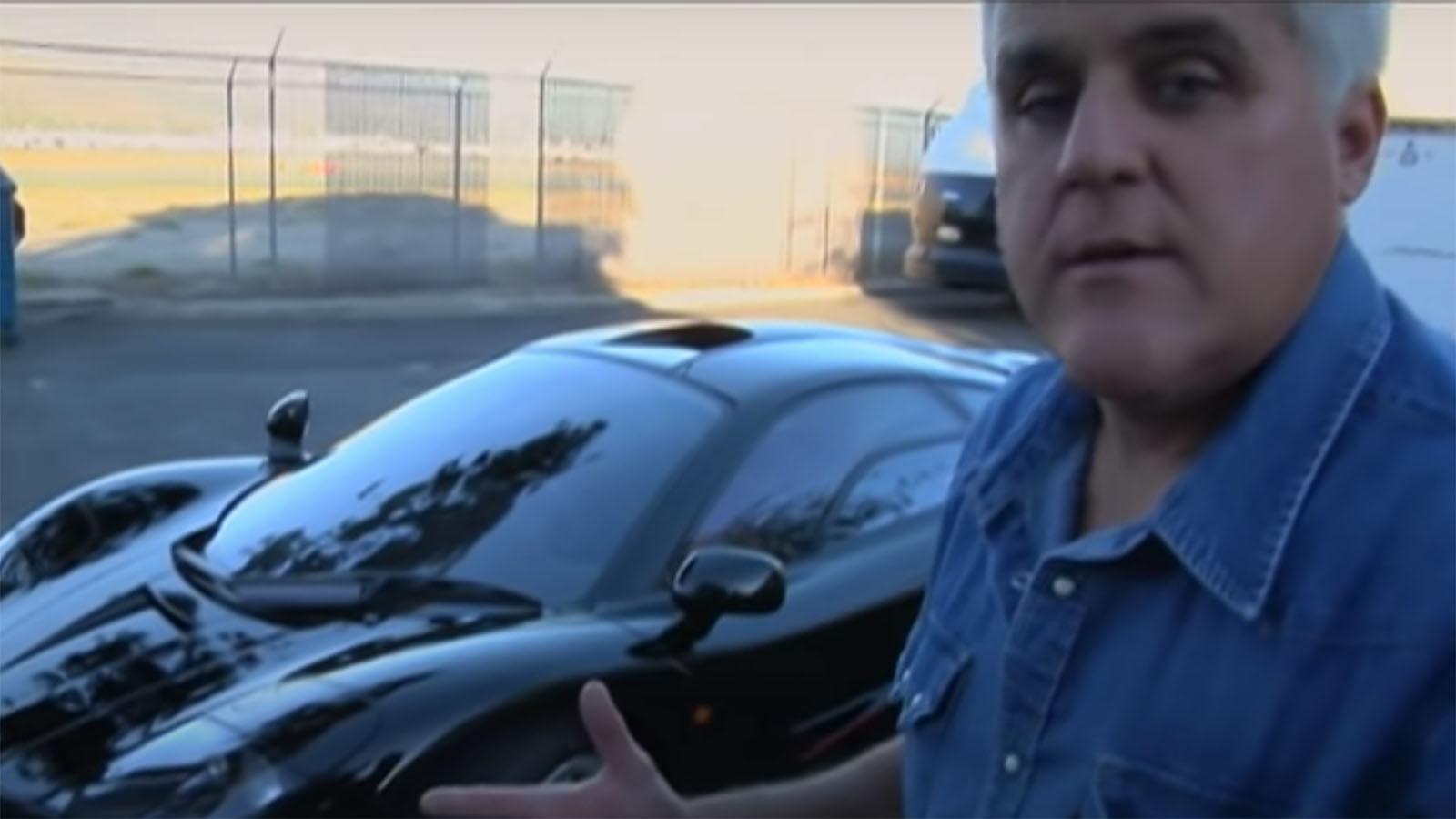 Jay Leno with McLaren F1