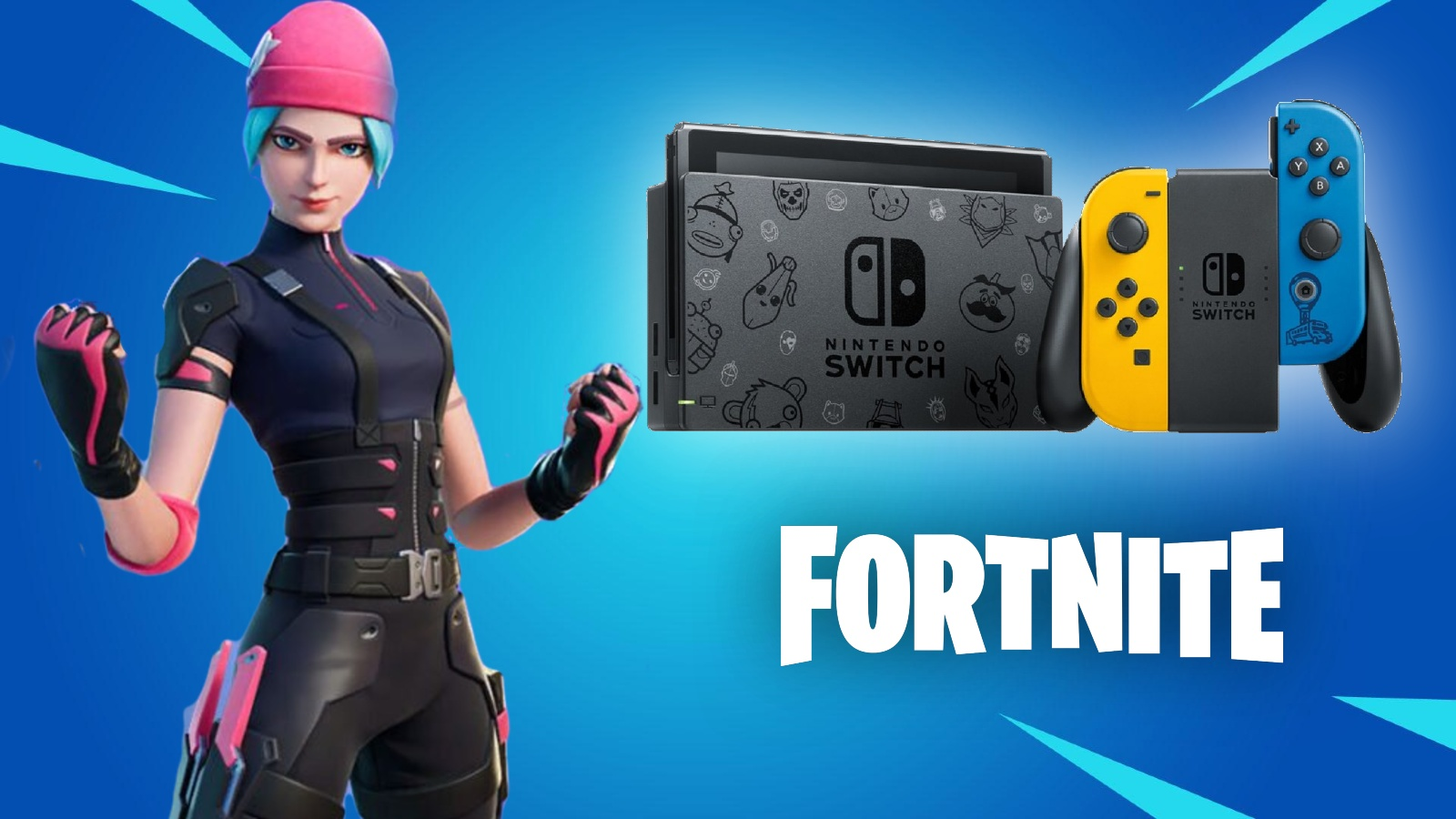 Nintendo Switch Fortnite Wildcat Pack bundle