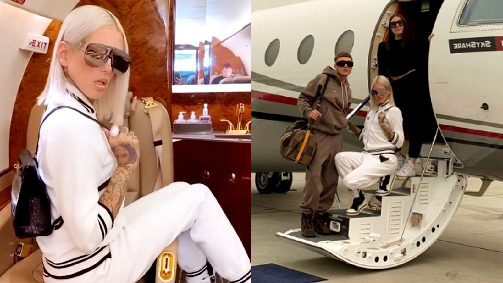 Jeffree Star on his private jet