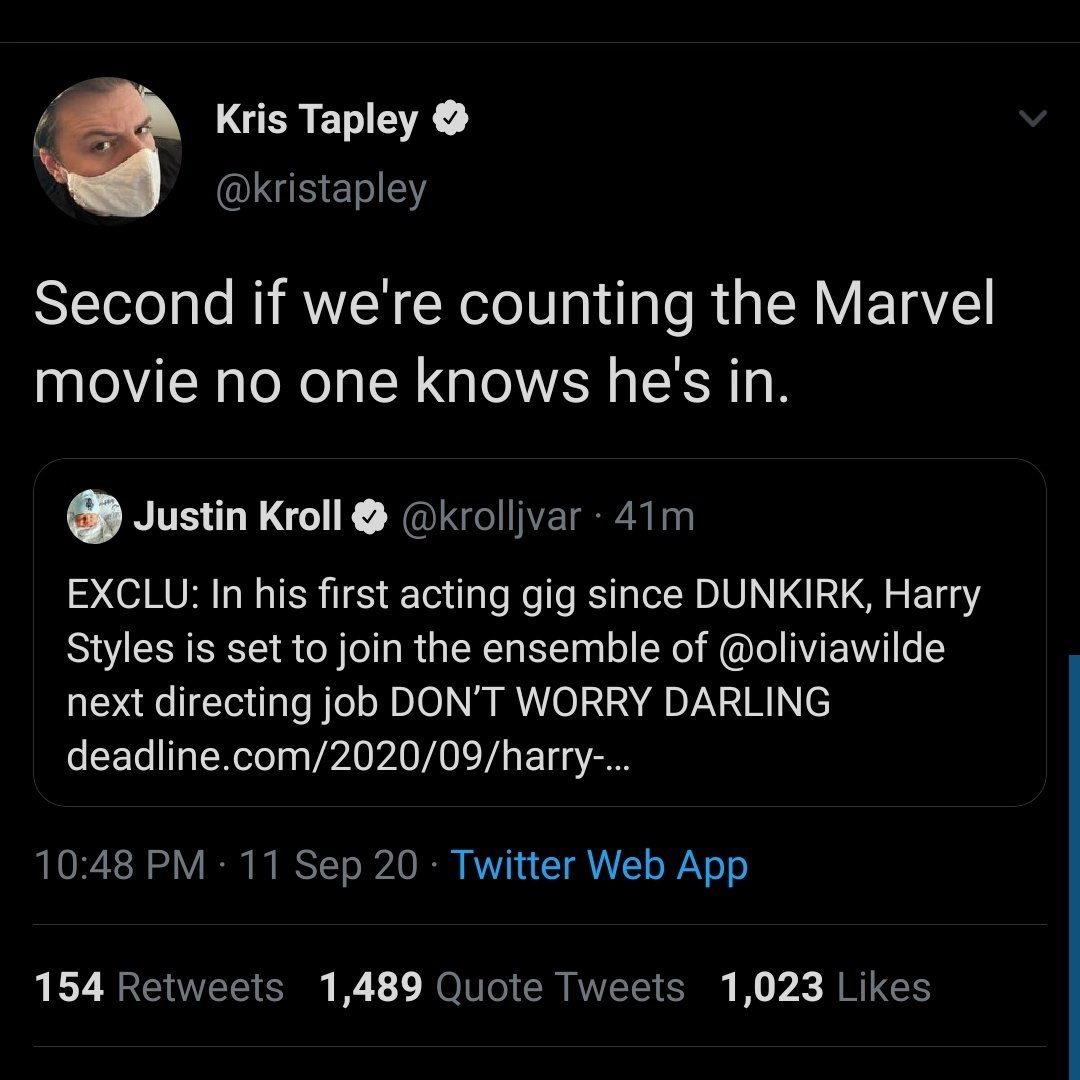 KRISTAPLEY HARRY STYLES MARVEL