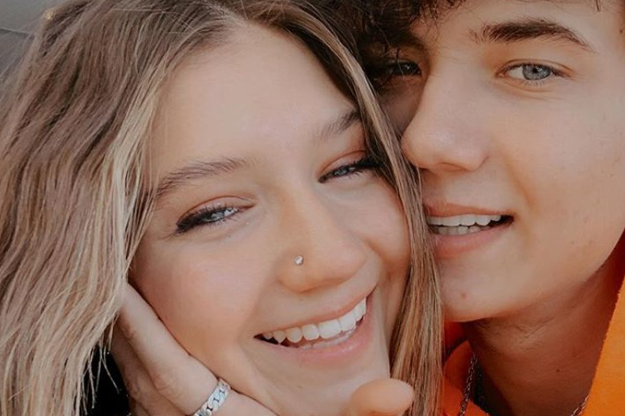 Jaden Hossler Mads Lewis couple selfie Instagram