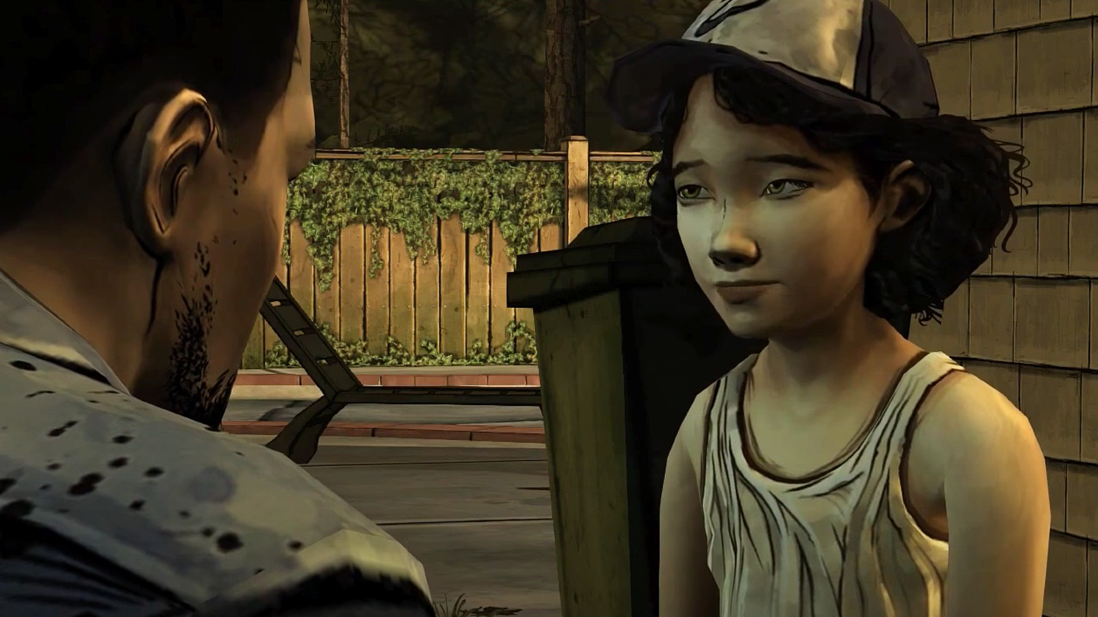 Clem meets Lee in TWD game