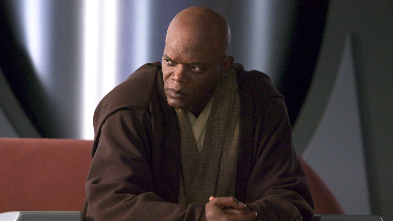 Samuel L. Jackson played Mace Windu in three Star Wars movies between 1999 and 2005.