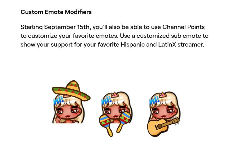 Twitch emote modifiers hispanic heritage month
