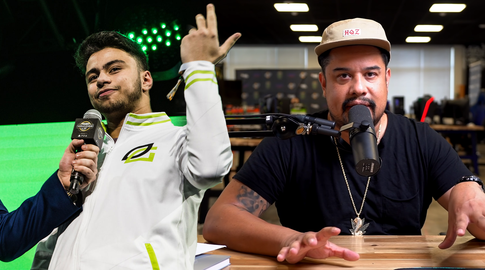 Dashy on stage / Hecz talking to camera