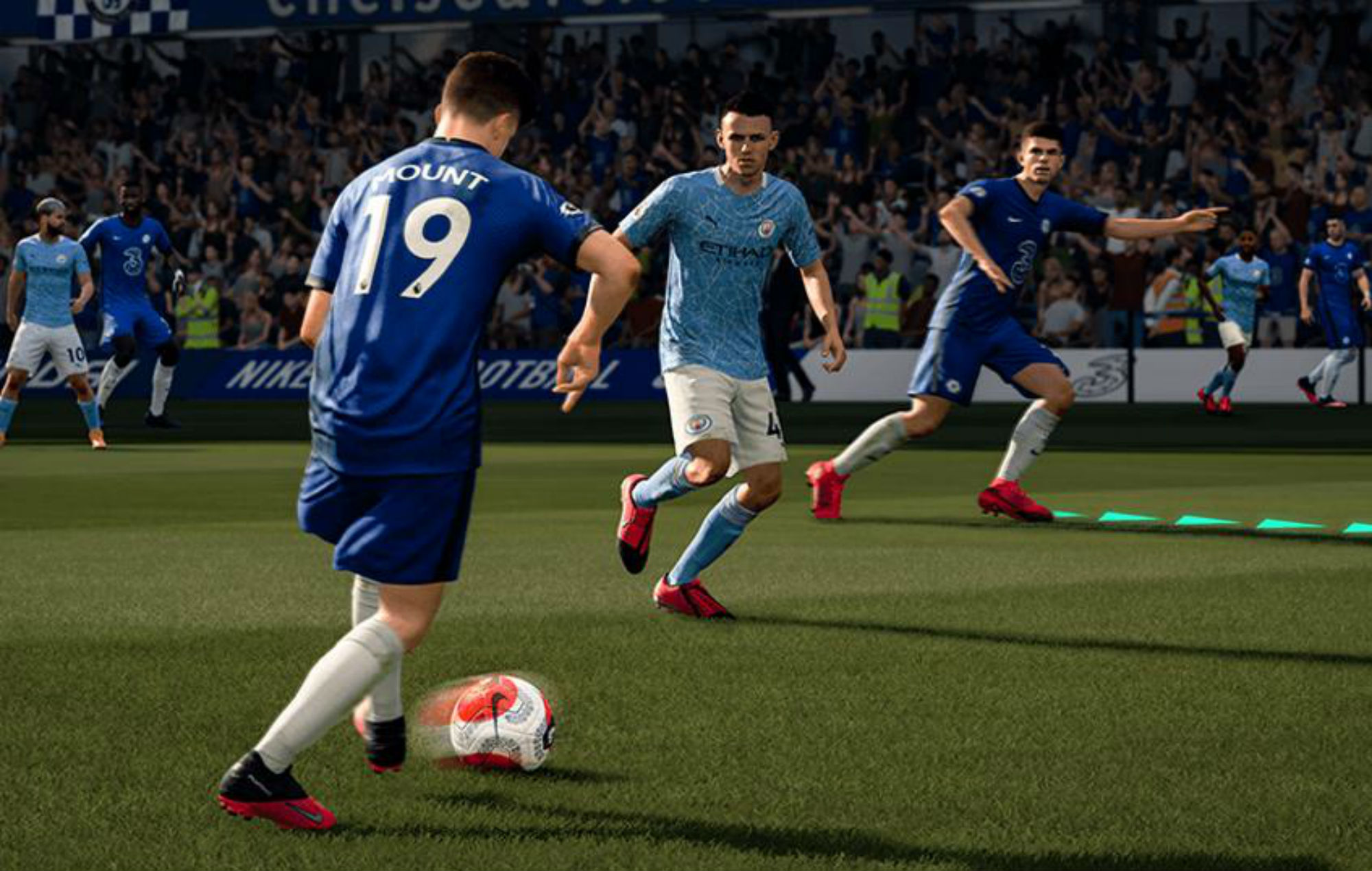 FIFA 21 Chelsea v City Mason Mount Phil Foden Christian Pulisic