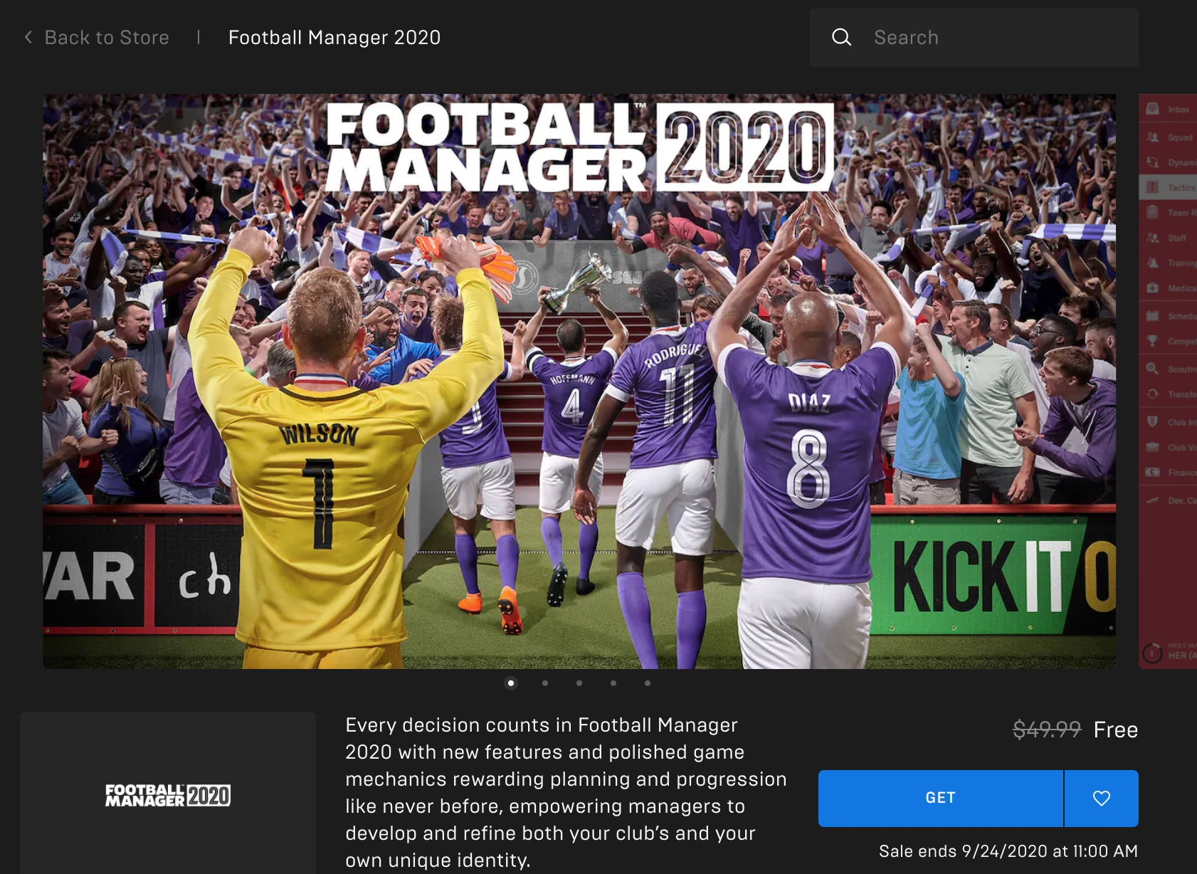 football manager 20 epic games store