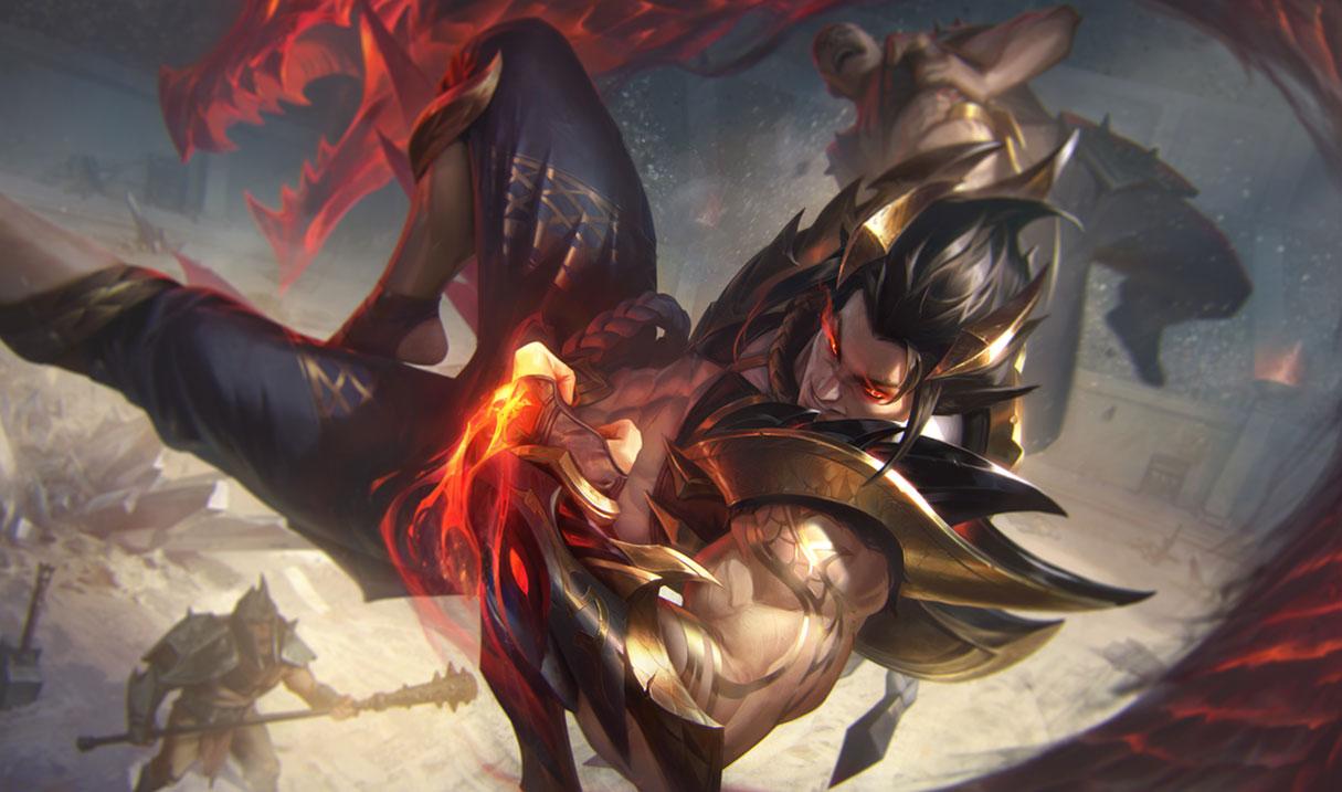 Obsidian Dragon Sett in League of Legends