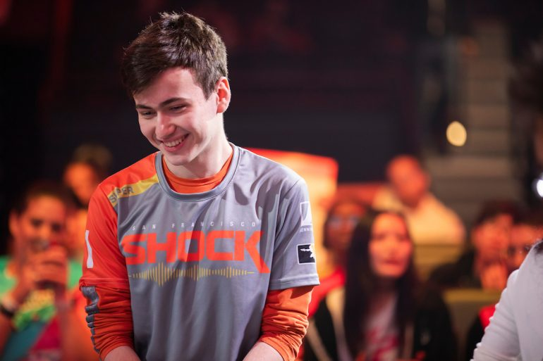Super playing for San Francisco Shock in 2019 OWL