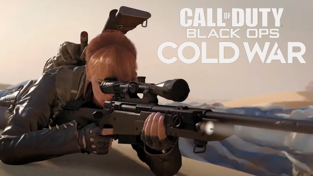 Black Ops Cold War Sniping next to game's logo