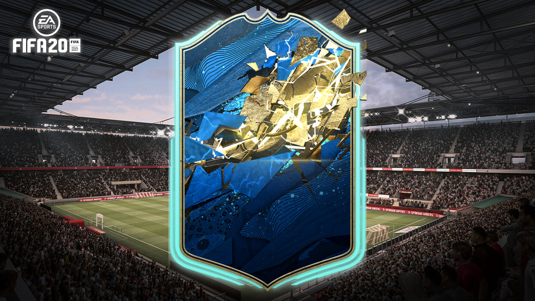 FIFA 20 TOTSSF card with a stadium