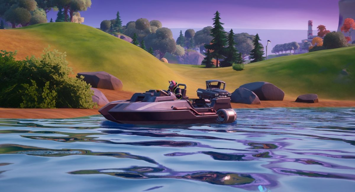 fortnite character driving boat