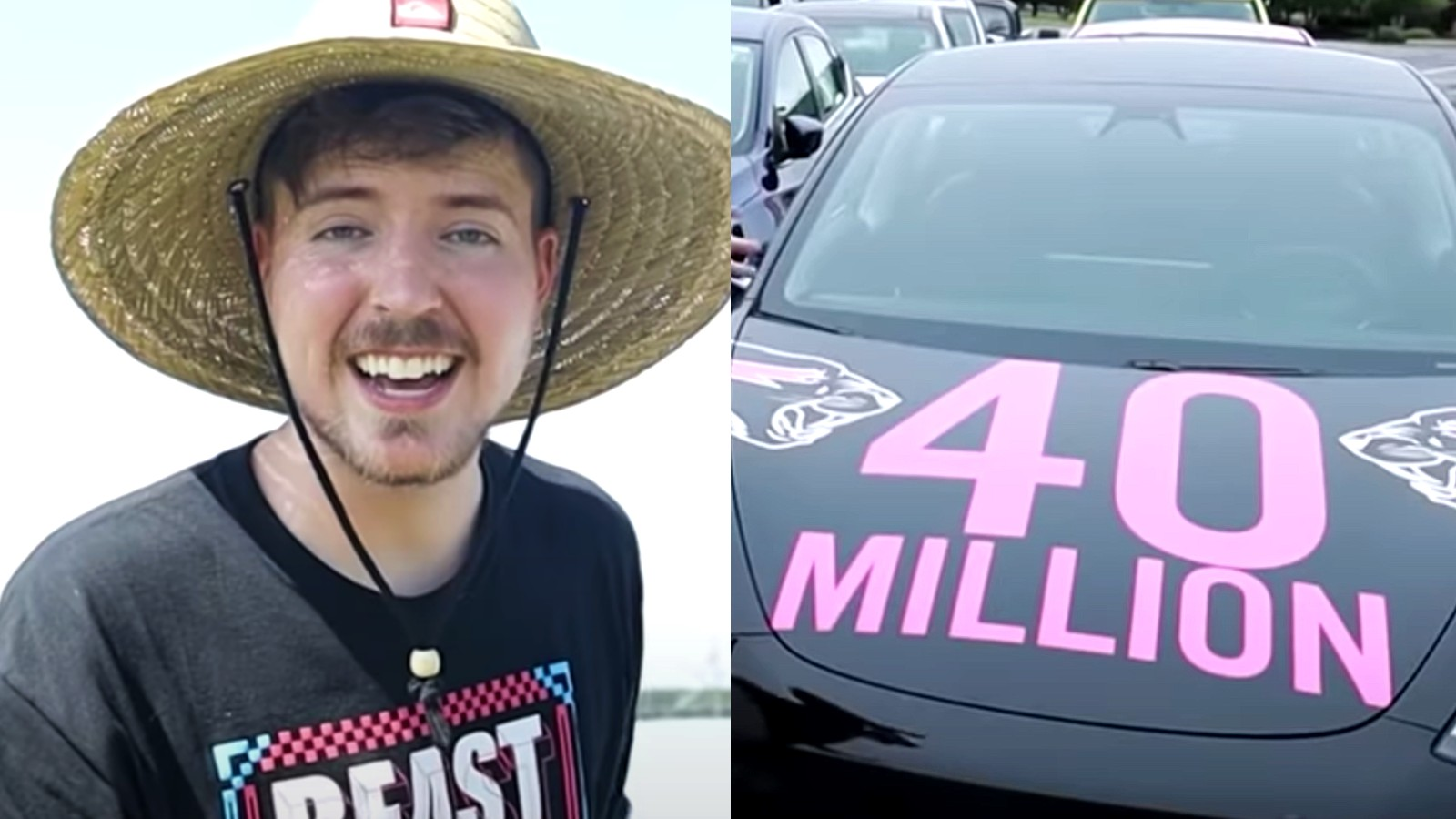 MrBeast gave away 40 cars to his 40 millionth subscriber