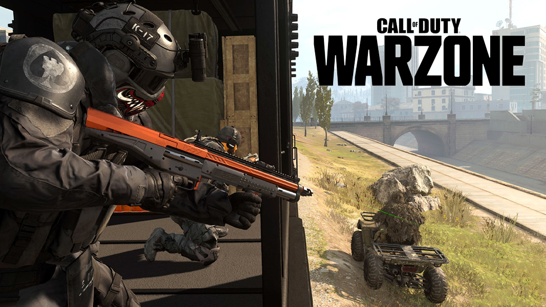 Warzone gunfight with logo
