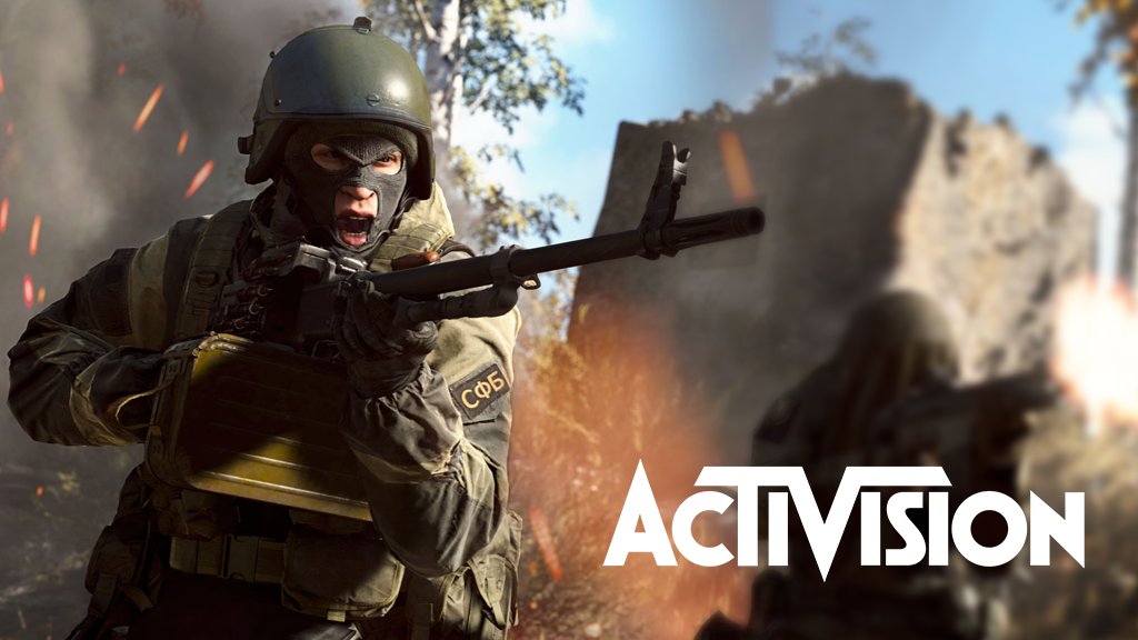 Call of Duty Modern Warfare gameplay with Activision logo