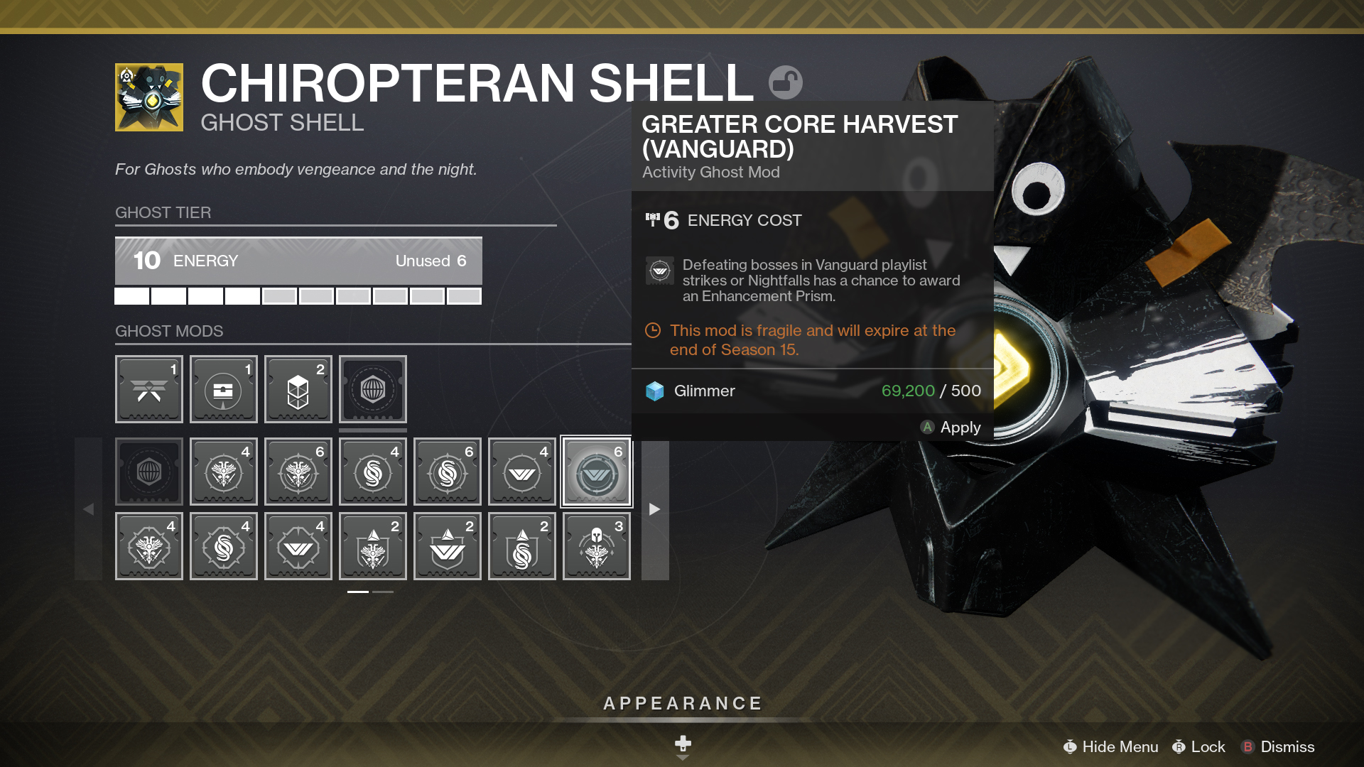 Bungie's example of the new Ghost rework coming in Beyond Light.