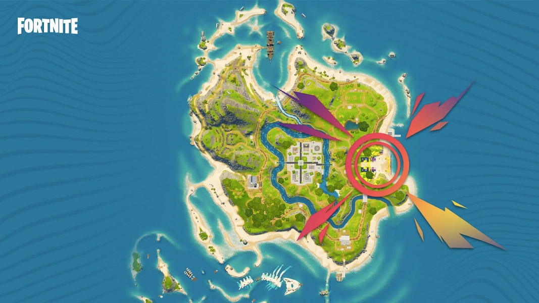 Fortnite's party royale map