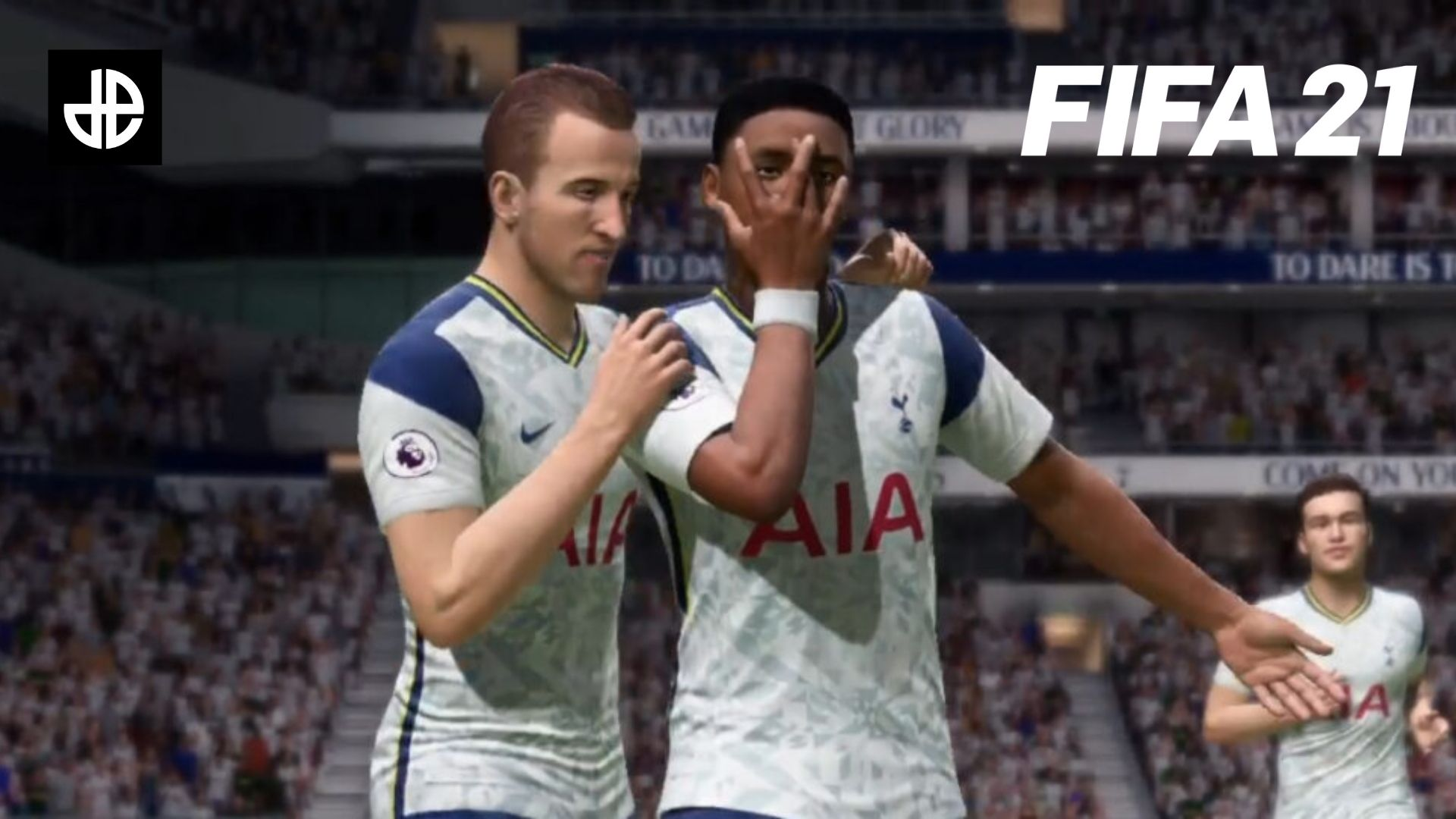 Spurs players celebrating in FIFA