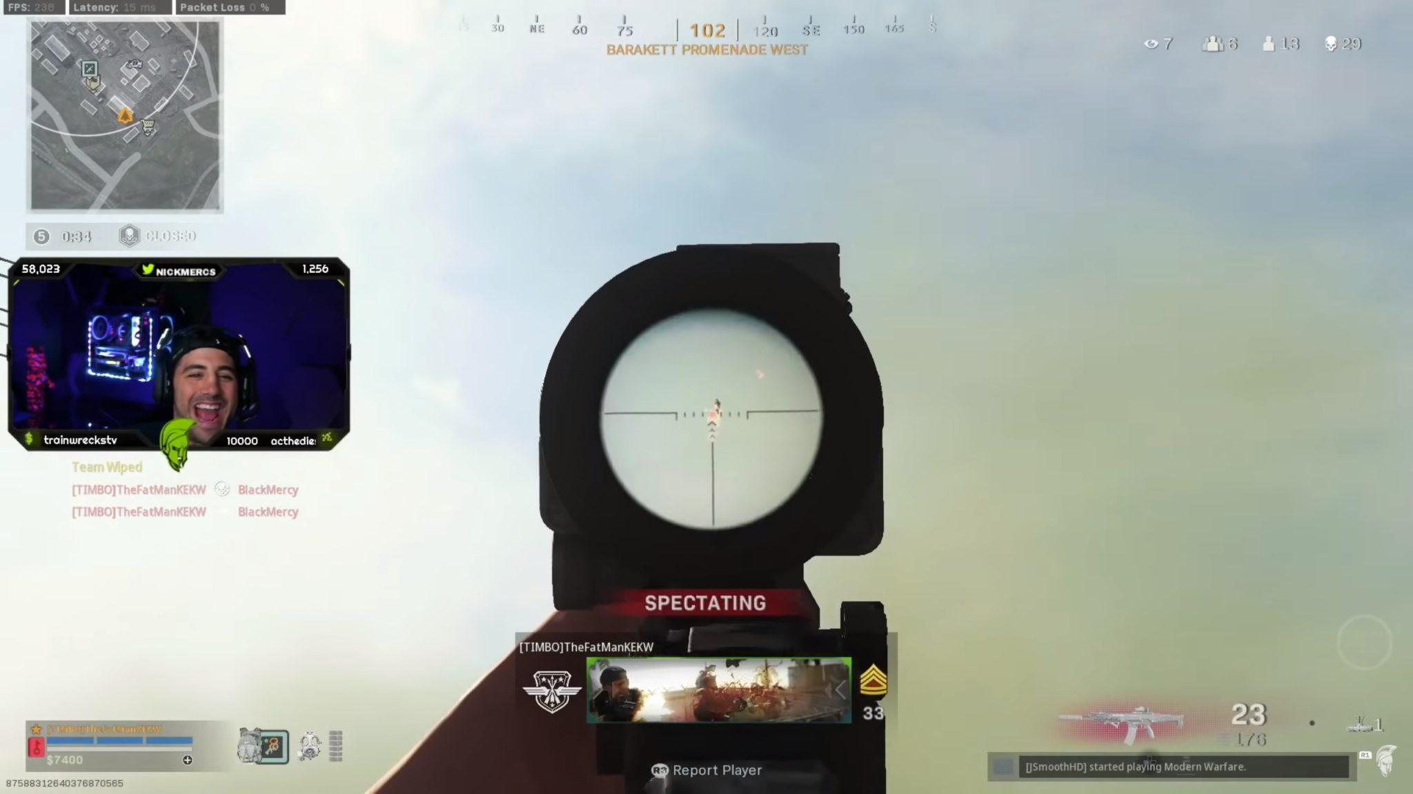 Cheater in Warzone