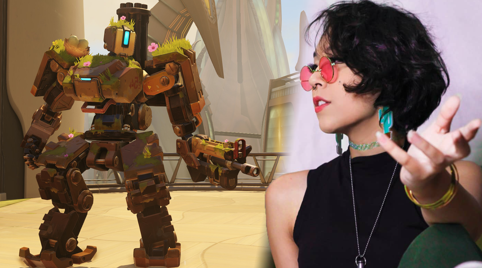 Overwatch Bastion gameplayer / cosplayer