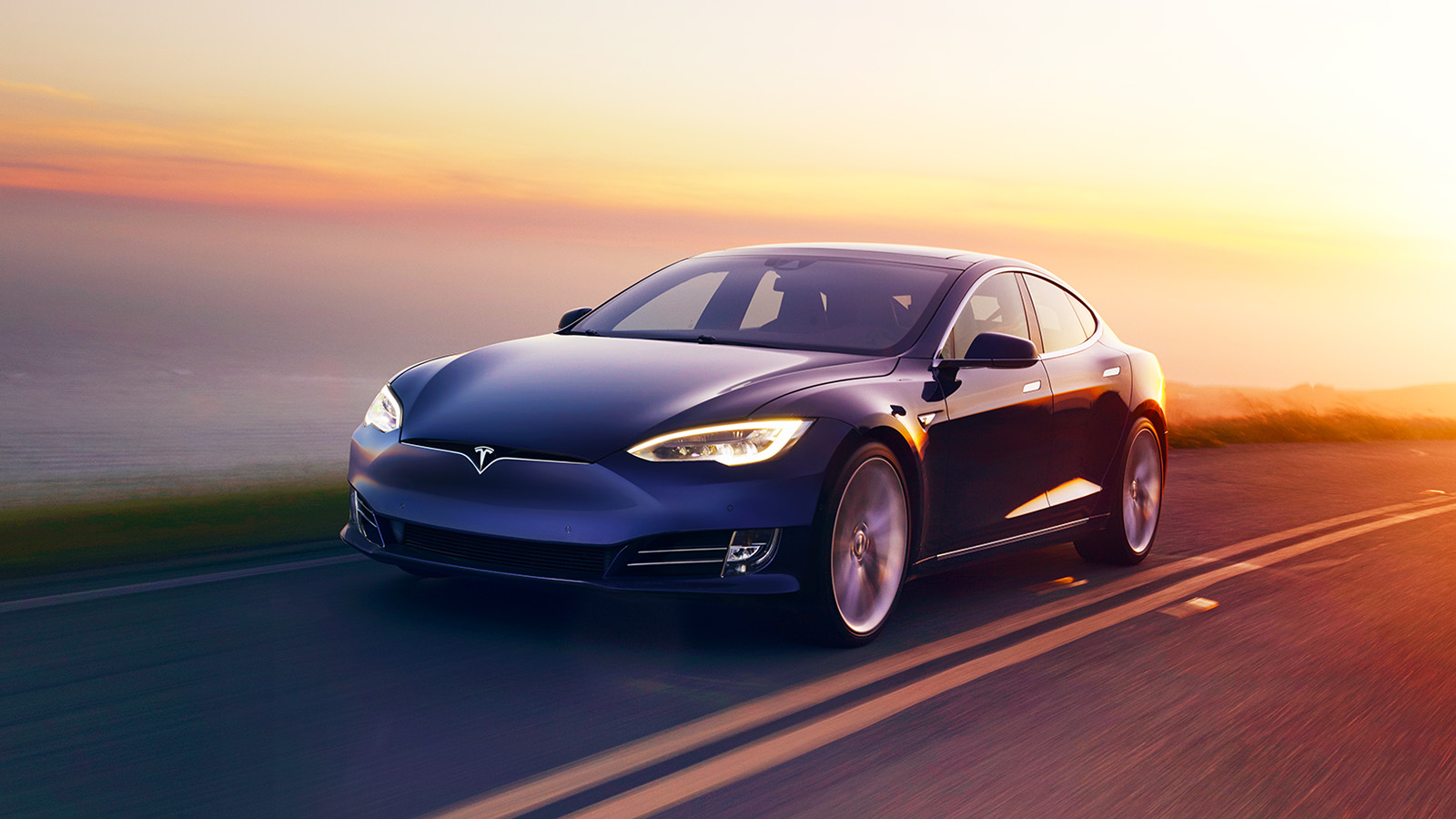 Tesla Model S Sunset