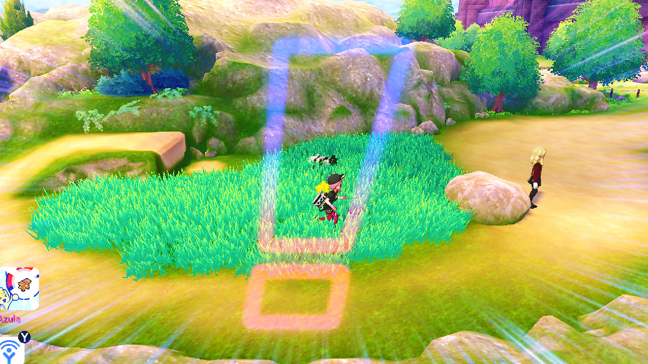 running in grass in pokemon sword and shield