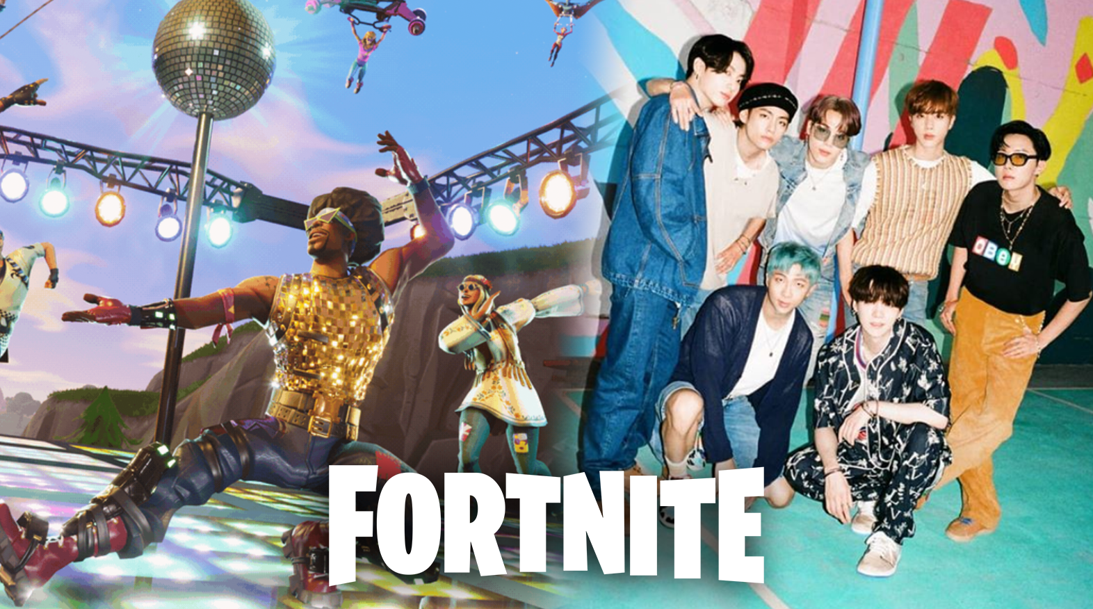 Fortnite gameplay / BTS photoshoot