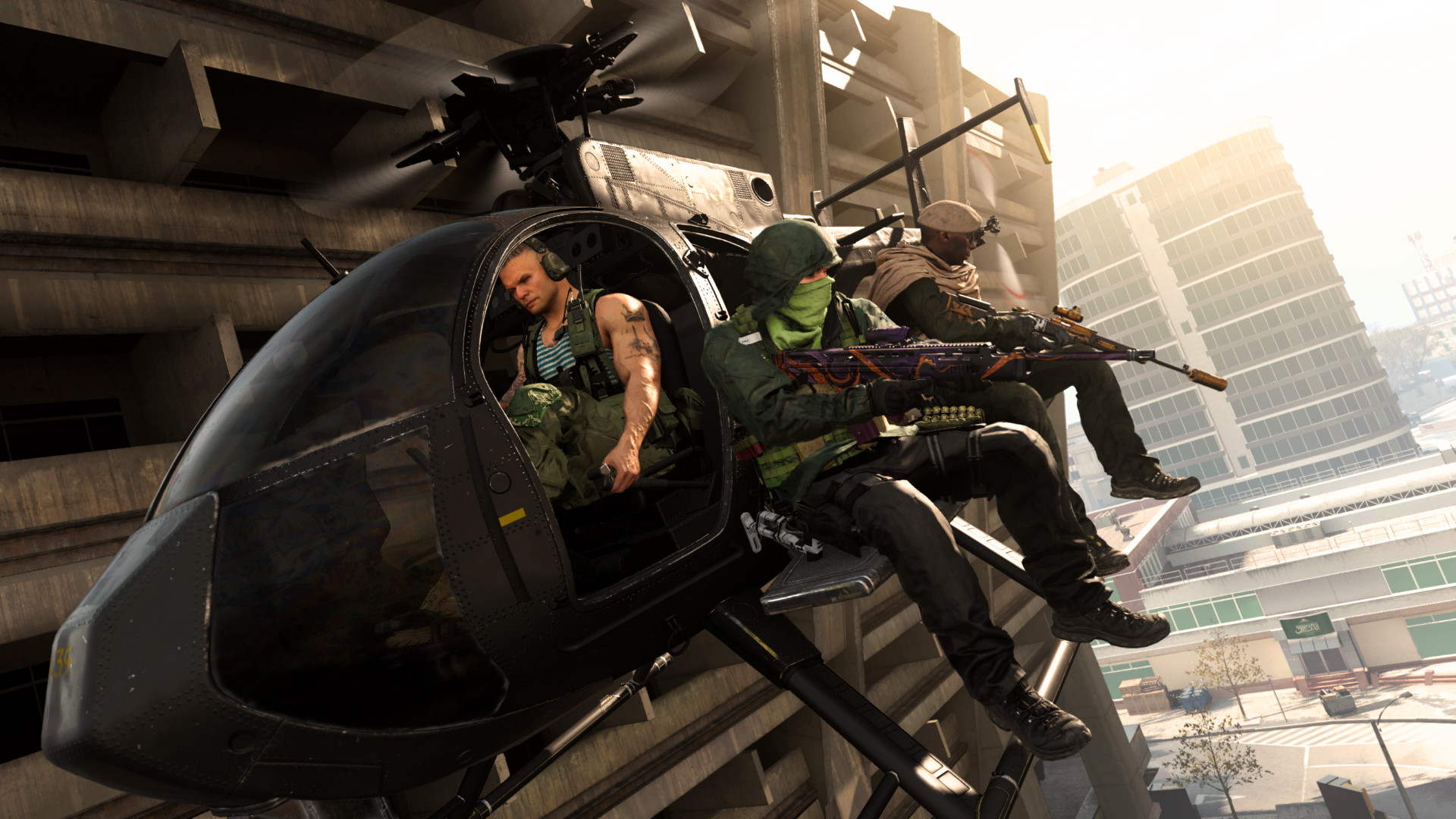 Warzone gameplay helicopter