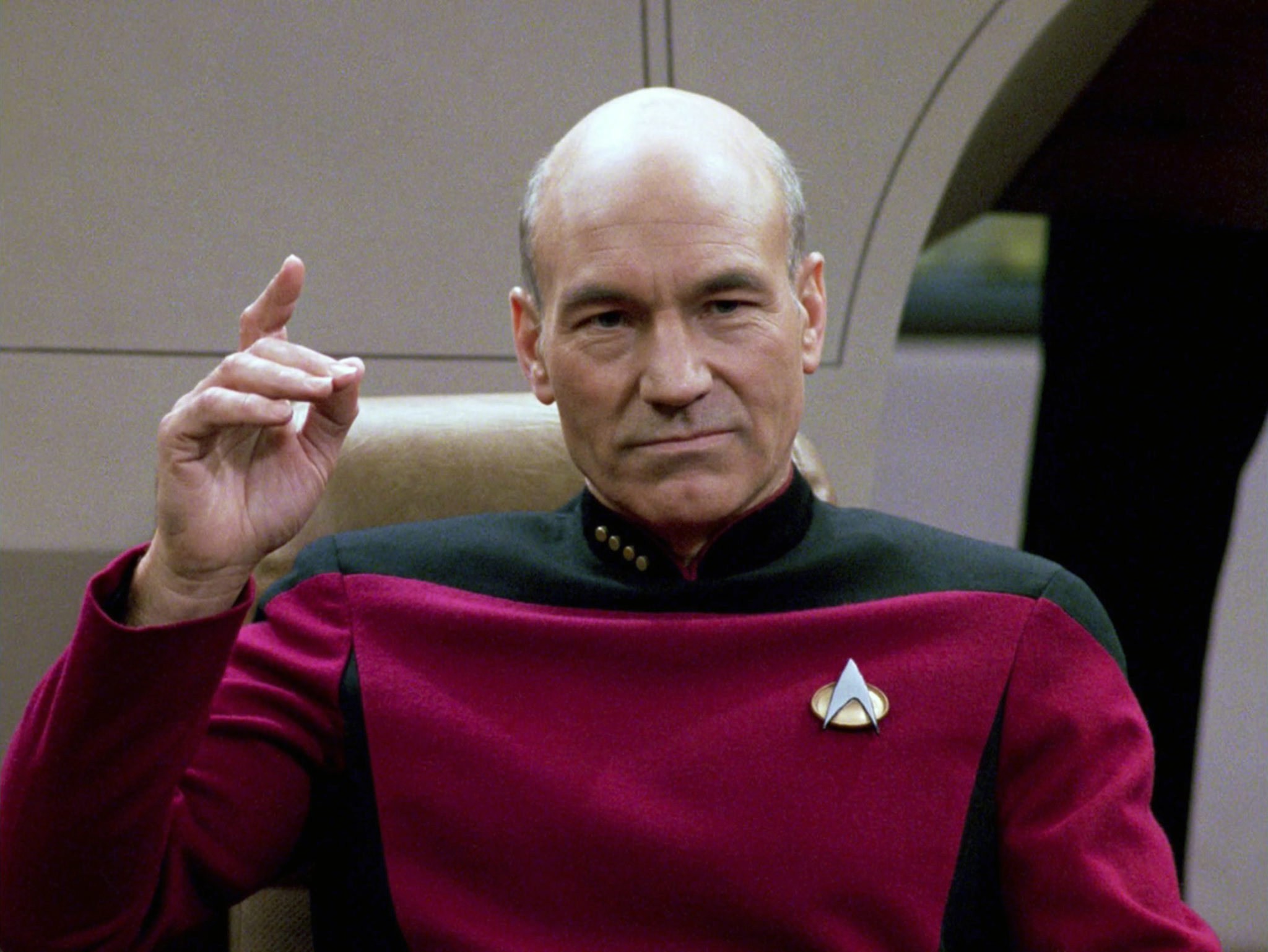 Patrick Stewart played Enterprise captain Jean-Luc Picard from 1987 to 2002, and returned to the role in 2020.
