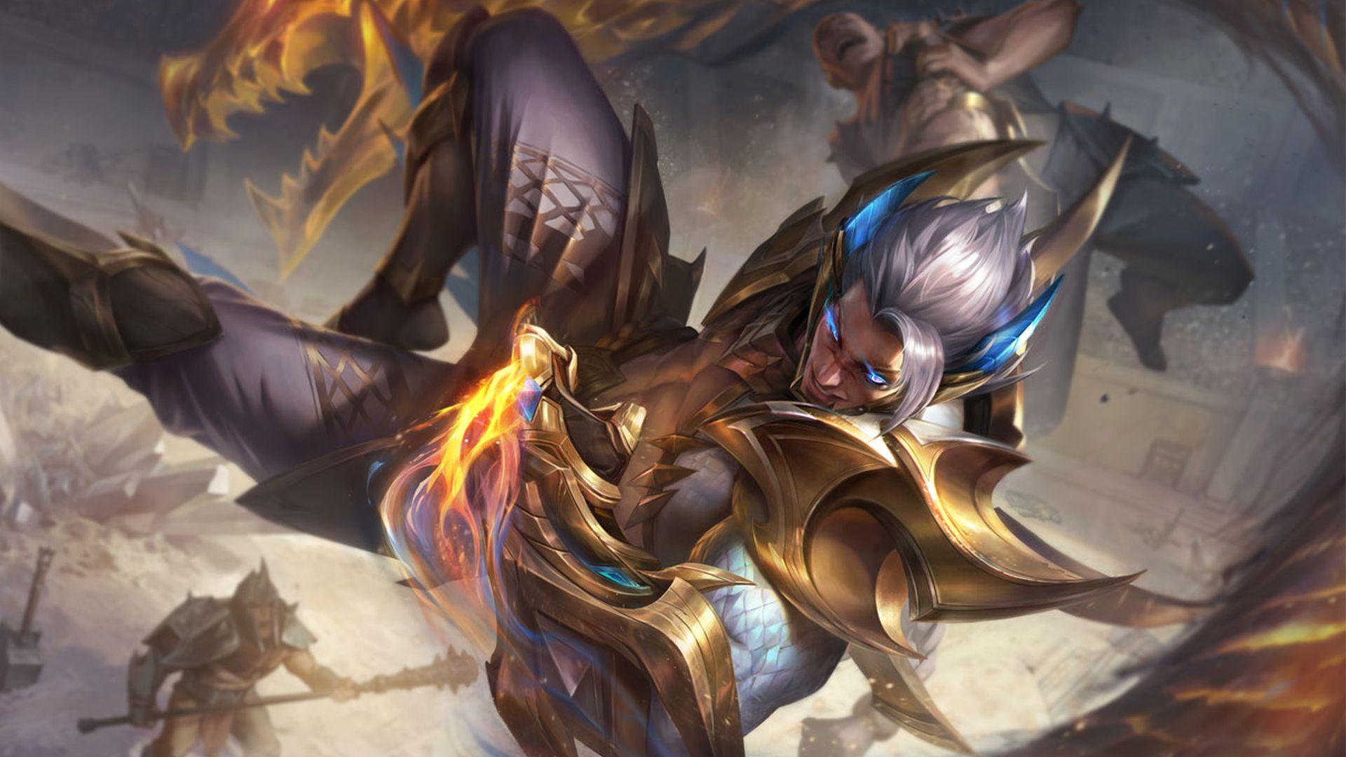 Sett is getting a Prestige Dragonmancer skin in League Patch 10.20.