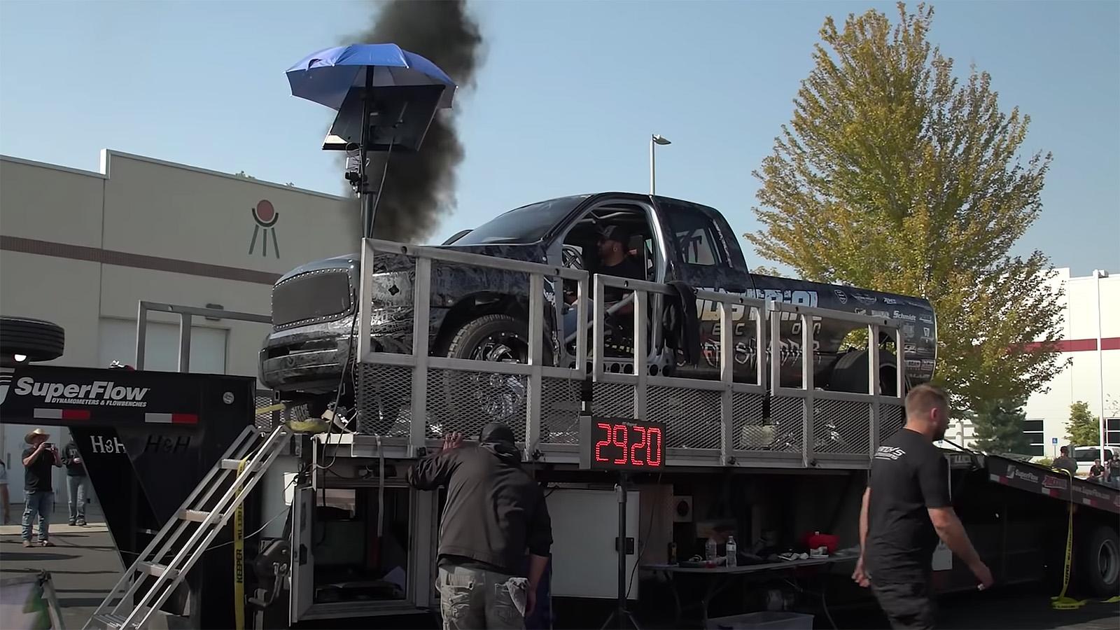 Master Shredder truck on dyno