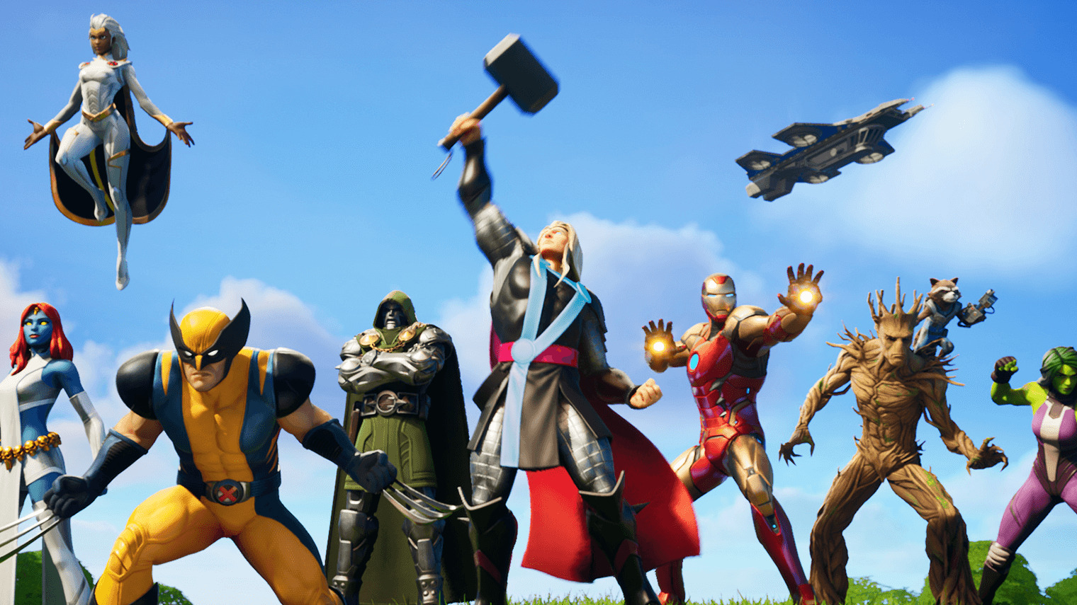 all marvel characters in fortnite