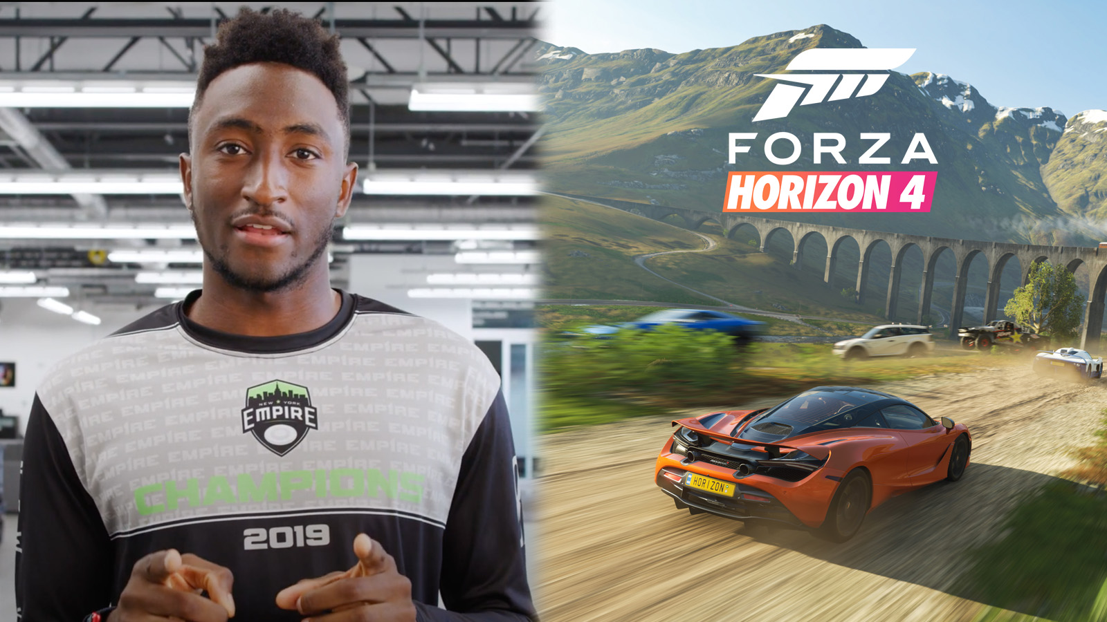 Marques Brownlee plays Forza Horizon 4 in 8K