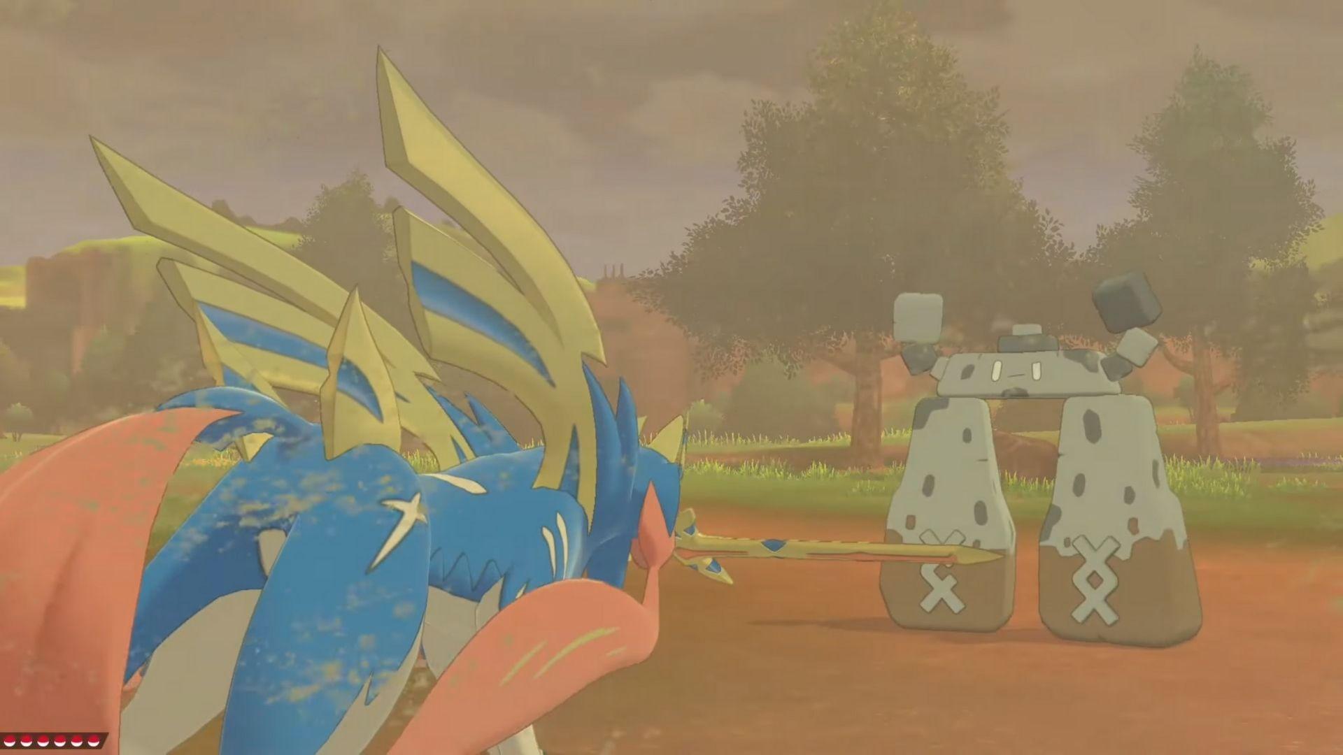 Stonjourner Pokemon Sword battle