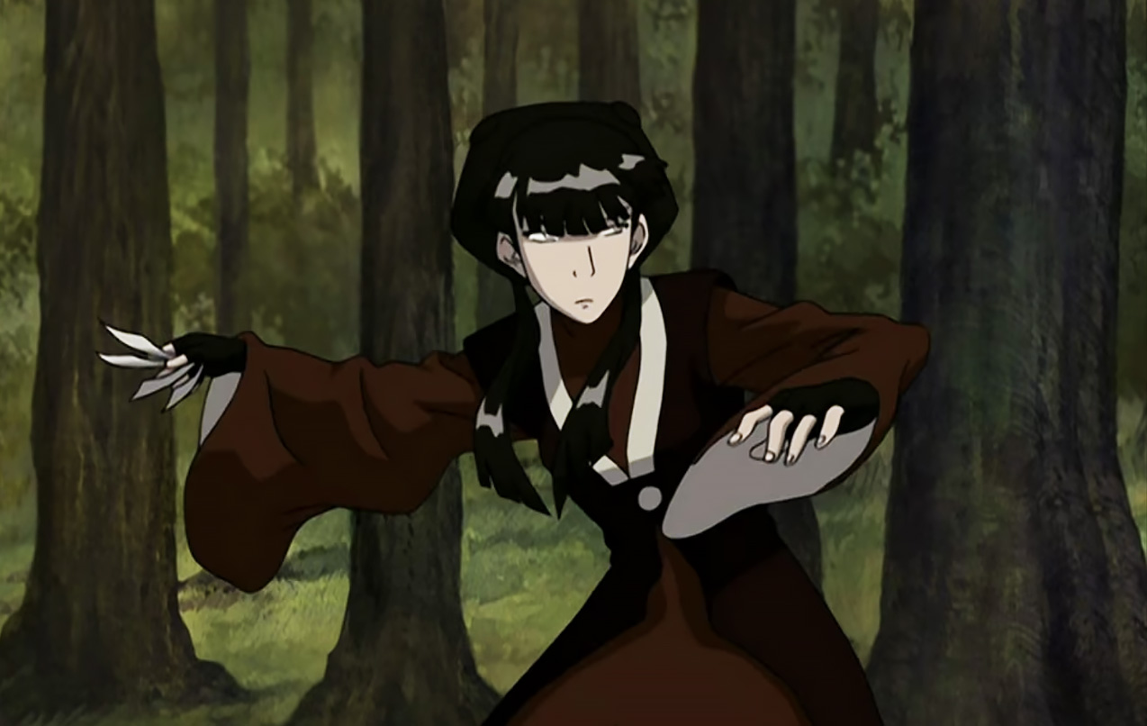 mai in fighting stance in avatar the last airbender