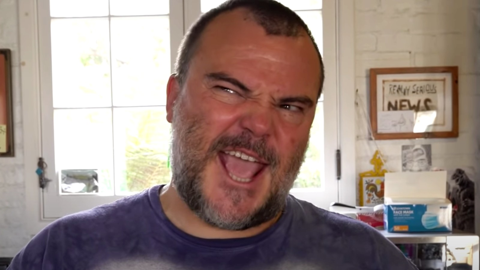 Jack Black in one of his YouTube videos