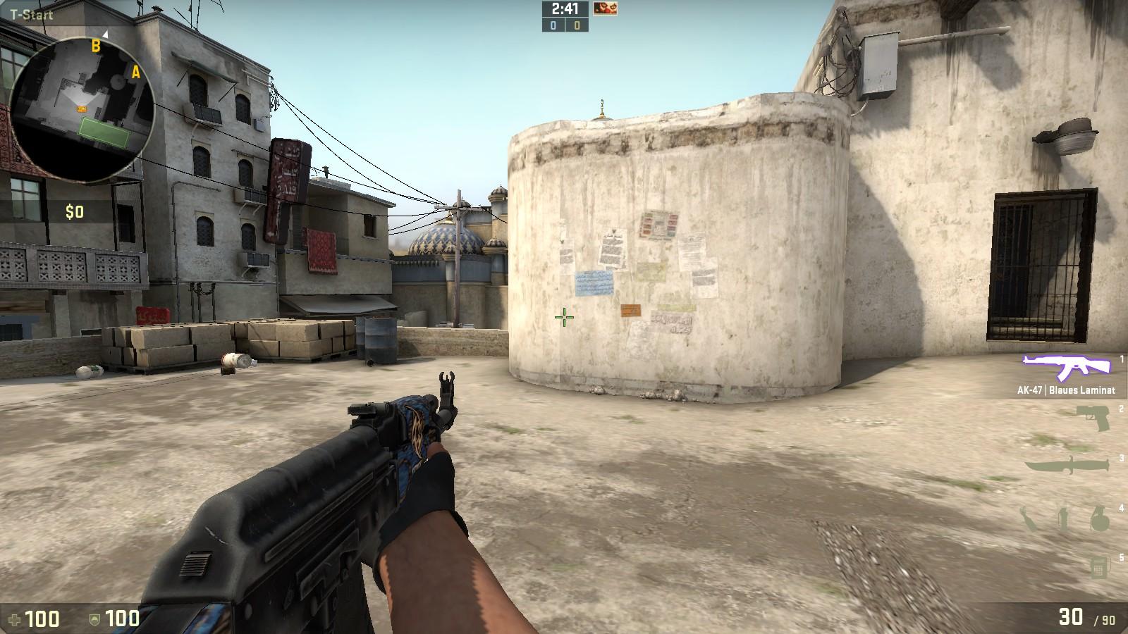 CS:GO left hand view model with AK-47