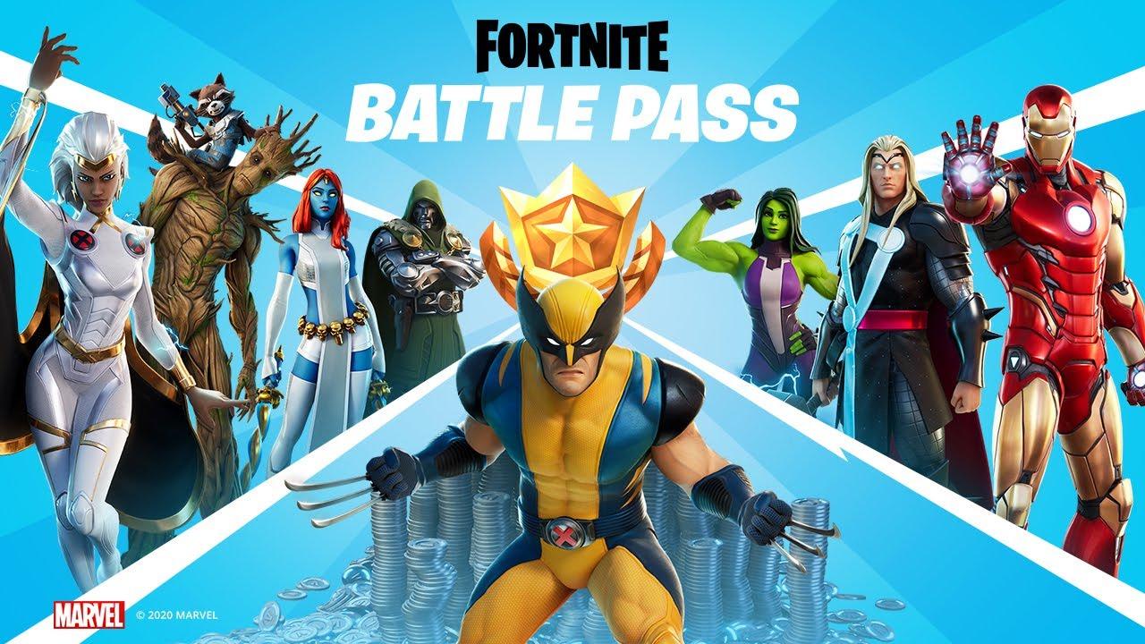 Fortnite Season 4 Marvel battle pass header