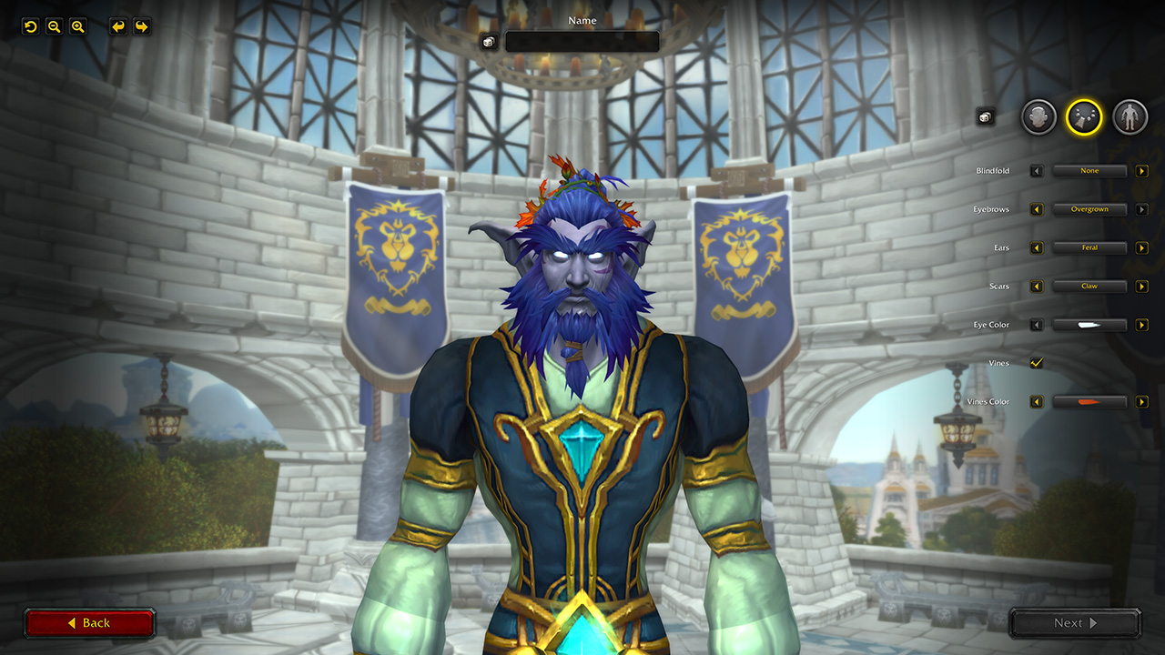 Sahdowlands is overhauling the World of Warcraft character creation screen.
