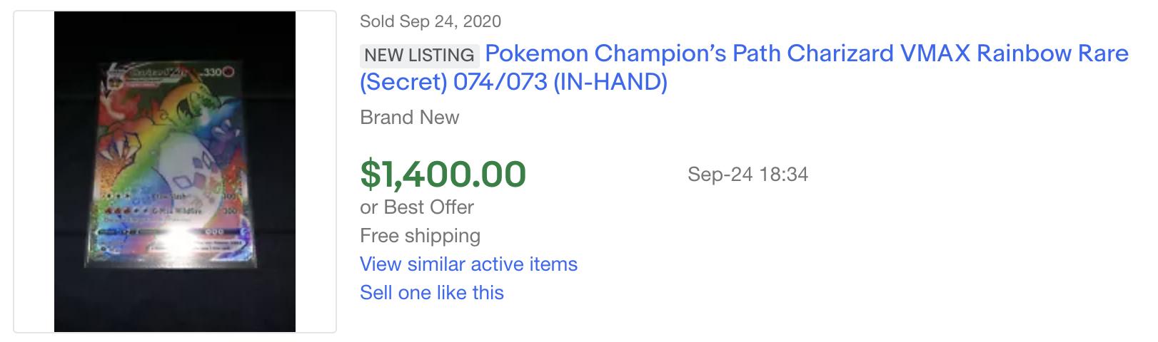 pokemon charizard ebay listing