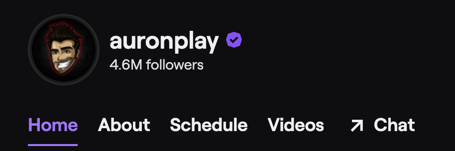 Auronplay's Twitch channel