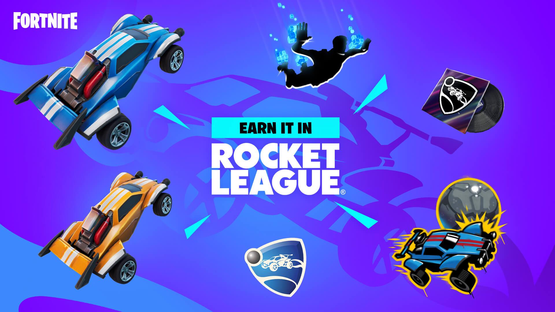Epic Games rewards for fortnite x rocket league event