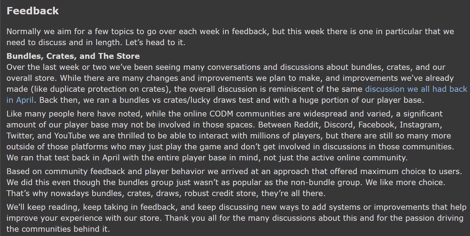 CoD Mobile developers respond