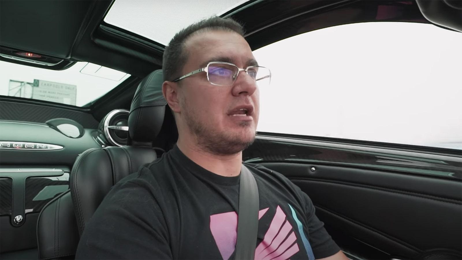 Houston Crosta drives Pagani Huayra
