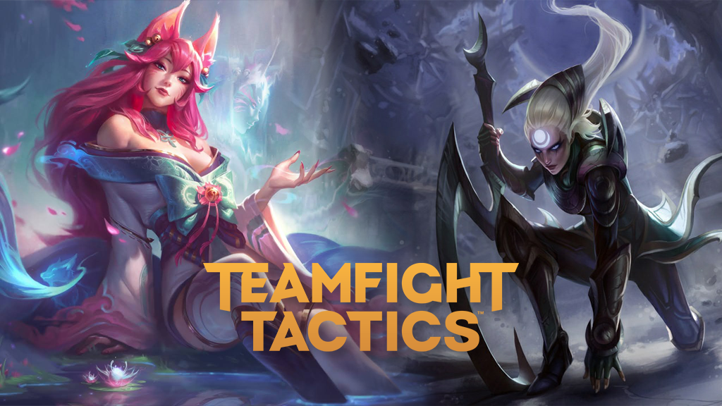 Spirit Blossom Ahri and Diana in TFT Fates