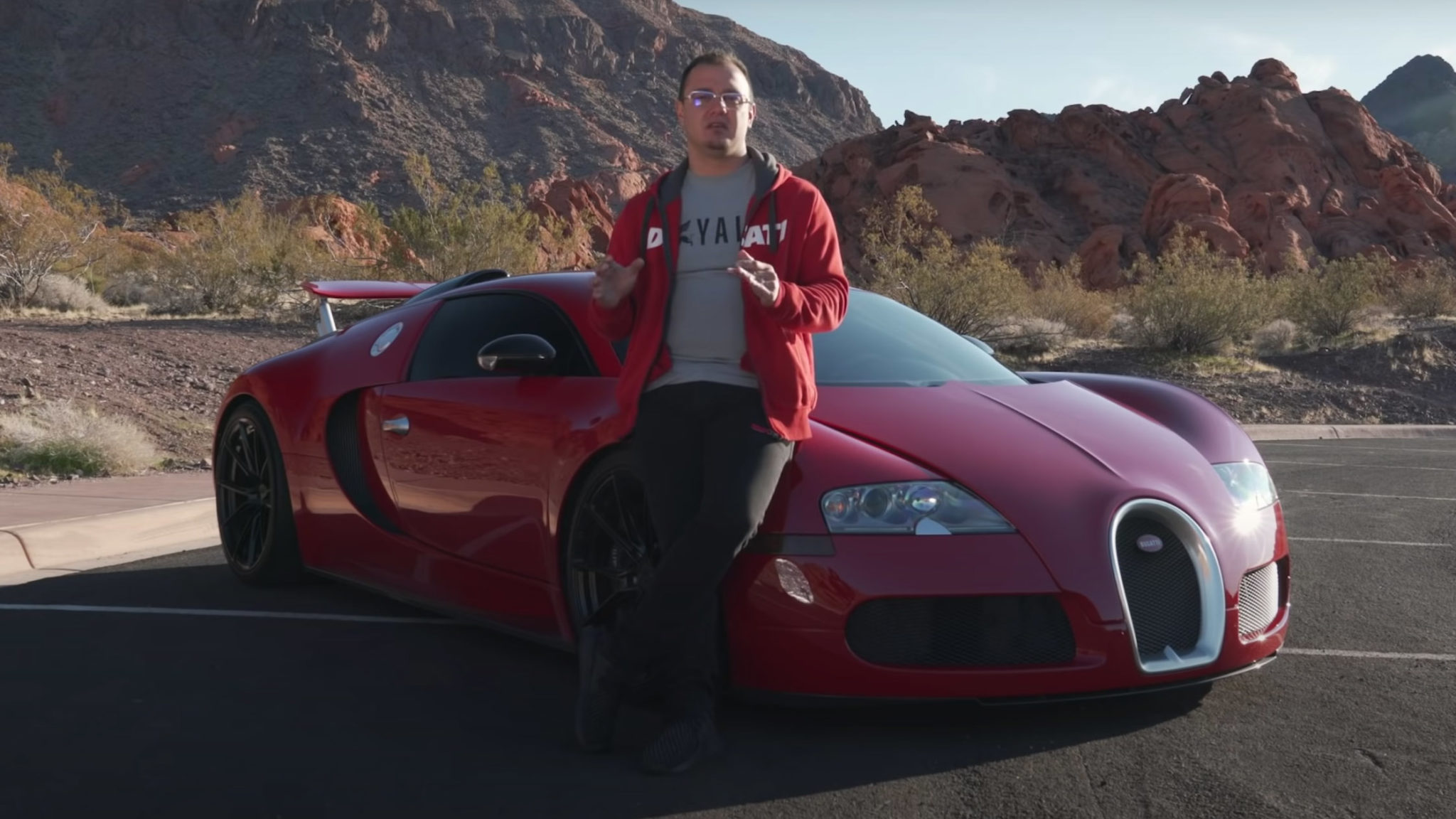 Houston Crosta with Bugatti Veyron