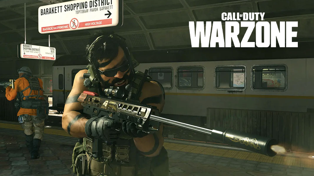 Warzone character in the Subway system