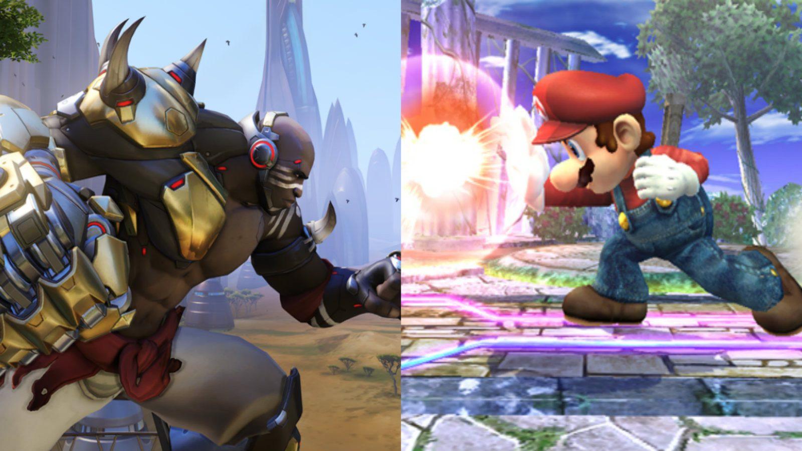 Doomfist and Mario