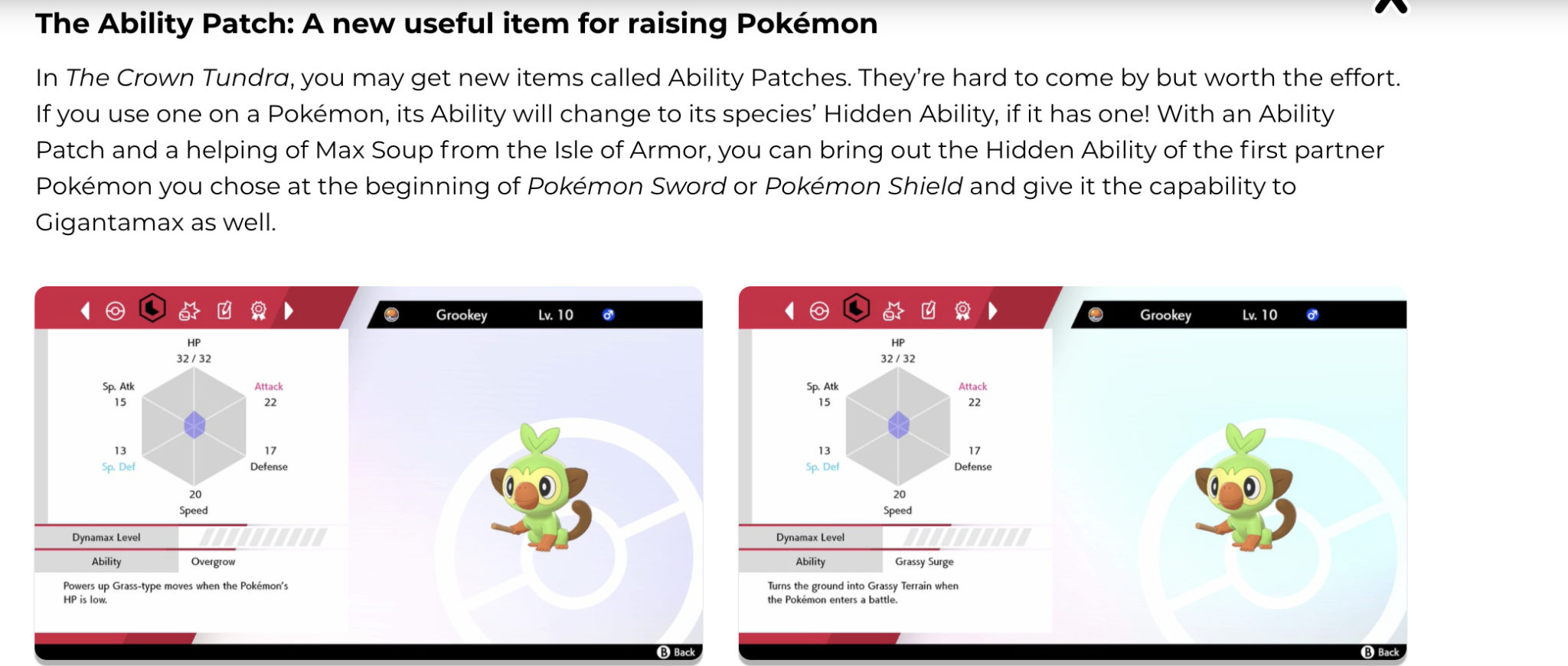 hidden abilities pokemon